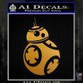 Droid Space Battle D2 Decal Sticker Robot Metallic Gold Vinyl 120x120