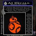 Droid Space Battle D2 Decal Sticker Robot Orange Vinyl Emblem 120x120