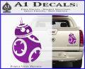 Droid Space Battle D2 Decal Sticker Robot Purple Vinyl 120x97