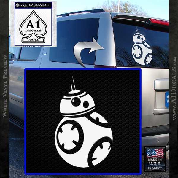 Droid Space Battle D2 Decal Sticker Robot White Vinyl Emblem