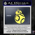 Droid Space Battle D2 Decal Sticker Robot Yellow Vinyl 120x120
