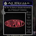 DuPont Du Pont Decal Sticker Pink Vinyl Emblem 120x120