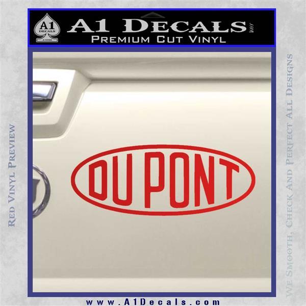 DuPont Du Pont Decal Sticker Red Vinyl