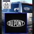 DuPont Du Pont Decal Sticker White Vinyl Emblem 120x120