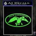 Duck Commander Decal Sticker DOV Lime Green Vinyl 120x120