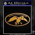 Duck Commander Decal Sticker DOV Metallic Gold Vinyl 120x120