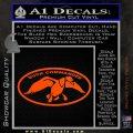 Duck Commander Decal Sticker DOV Orange Vinyl Emblem 120x120