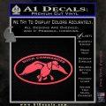Duck Commander Decal Sticker DOV Pink Vinyl Emblem 120x120