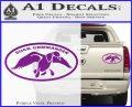 Duck Commander Decal Sticker DOV Purple Vinyl 120x97