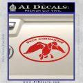 Duck Commander Decal Sticker DOV Red Vinyl 120x120