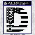 Duramax Decal Sticker Flag D1 Black Vinyl Logo Emblem 120x120