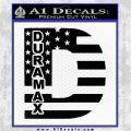 Duramax Decal Sticker Flag D1 Black Vinyl Logo Emblem 120x120