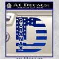 Duramax Decal Sticker Flag D1 Blue Vinyl 120x120