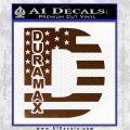 Duramax Decal Sticker Flag D1 Brown Vinyl 120x120