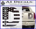 Duramax Decal Sticker Flag D1 Carbon Fiber Black 120x97