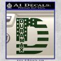Duramax Decal Sticker Flag D1 Dark Green Vinyl 120x120