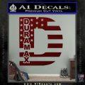Duramax Decal Sticker Flag D1 Dark Red Vinyl 120x120