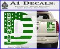 Duramax Decal Sticker Flag D1 Green Vinyl 120x97