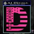 Duramax Decal Sticker Flag D1 Hot Pink Vinyl 120x120