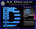Duramax Decal Sticker Flag D1 Light Blue Vinyl 120x97
