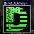 Duramax Decal Sticker Flag D1 Lime Green Vinyl 120x120