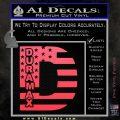 Duramax Decal Sticker Flag D1 Pink Vinyl Emblem 120x120