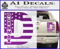 Duramax Decal Sticker Flag D1 Purple Vinyl 120x97