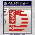 Duramax Decal Sticker Flag D1 Red Vinyl 120x120