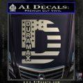 Duramax Decal Sticker Flag D1 Silver Vinyl 120x120