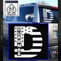 Duramax Decal Sticker Flag D1 White Vinyl Emblem 120x120