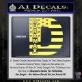 Duramax Decal Sticker Flag D1 Yellow Vinyl 120x120