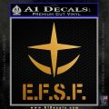 E.F.S.F. LOGO Gundam Decal Sticker Anime Robot Metallic Gold Vinyl 120x120