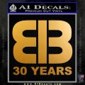 EIB Network Decal Sticker Rush Limbaugh Metallic Gold Vinyl 120x120