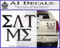 Eat Me Greek Lettering Frat Decal Sticker Carbon Fiber Black 120x97