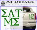Eat Me Greek Lettering Frat Decal Sticker Green Vinyl 120x97