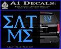 Eat Me Greek Lettering Frat Decal Sticker Light Blue Vinyl 120x97