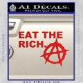 Eat The Rich Decal Sticker Anarchy Anarchist Red Vinyl 120x120