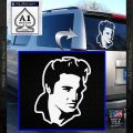 Elvis Decal Sticker P7 White Vinyl Emblem 120x120
