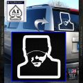 Eric Church Profile Decal Sticker D2 White Vinyl Emblem 120x120