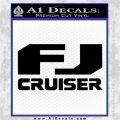 FJ Cruiser Decal Sticker DN Black Vinyl Logo Emblem 120x120