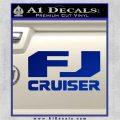FJ Cruiser Decal Sticker DN Blue Vinyl 120x120