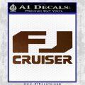 FJ Cruiser Decal Sticker DN Brown Vinyl 120x120