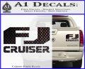 FJ Cruiser Decal Sticker DN Carbon Fiber Black 120x97