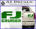 FJ Cruiser Decal Sticker DN Green Vinyl 120x97