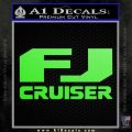 FJ Cruiser Decal Sticker DN Lime Green Vinyl 120x120