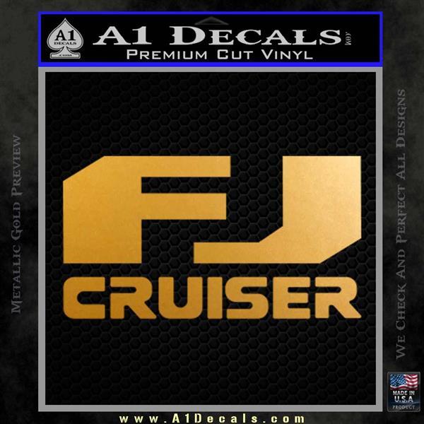 FJ Cruiser Decal Sticker DN Metallic Gold Vinyl
