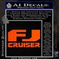 FJ Cruiser Decal Sticker DN Orange Vinyl Emblem 120x120