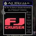FJ Cruiser Decal Sticker DN Pink Vinyl Emblem 120x120