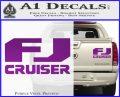 FJ Cruiser Decal Sticker DN Purple Vinyl 120x97