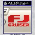 FJ Cruiser Decal Sticker DN Red Vinyl 120x120